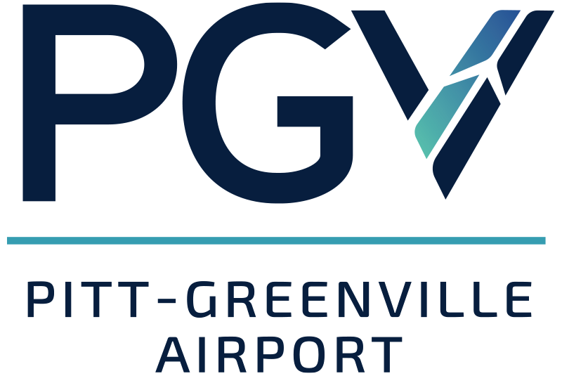 Pitt-Greenville Airport Logo black